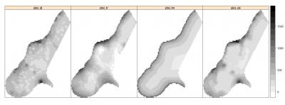 Fig. 1.13: Comparison of spatial prediction techniques for mapping Zinc.