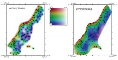 Fig. 5.19. Mapping uncertainty for zinc visualized using whitening.